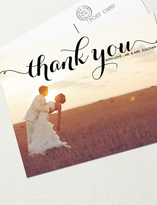 Thank You <br />Wedding Postcards