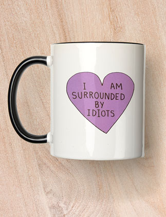 Browse our Collection of Funny Mugs  and personalize by color, design, or style.