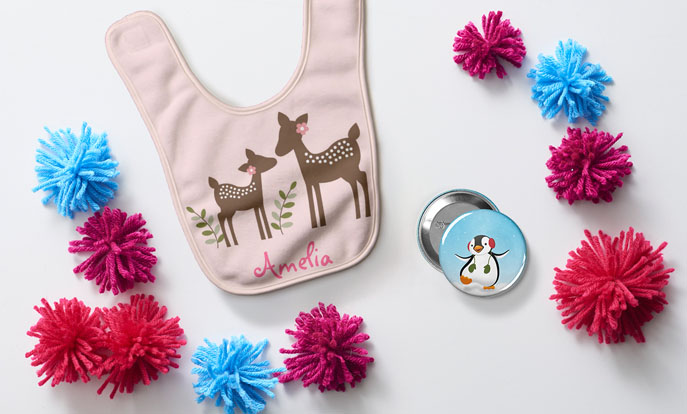 Create your very own gift for the kids in the family and personalize it by color, design, or style.